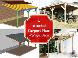 Attached Carport Designs by 5 Free Attached Carport Plans