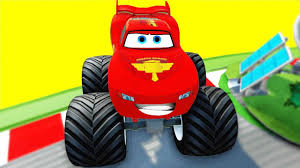 monster truck toy video venom and lightning mcqueen video for kids youtube video disney