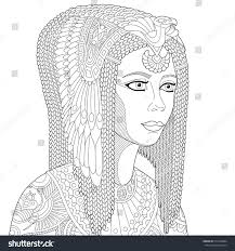 cleopatra coloring pages stylized cartoon ancient egyptian queen cleopatra stock vector