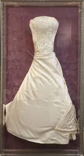 wedding dress storage wedding dress frame inside a custom shadowbox created in central