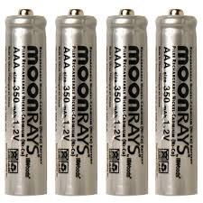 solar batteries for outdoor lights moonrays rechargeable 350 mah nicd aaa batteries for solar powered