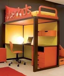 Loft Bed With Computer Desk Full Size Loft Bed With Desk Underneath Foter