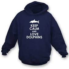 keep calm and love dolphins kids hooded sweatshirt from animals