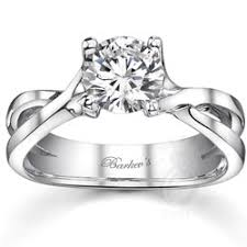 twisted shank engagement ring barkev s four prong twisted shank design solitaire engagement ring