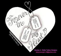 in loving memory dog tags forever in my heart with dog tags tattoo design by a