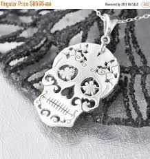 Sugar Skulls For Sale Sterling Silver Sugar Skull Pendant Sugar Skull Jewelry Sugar