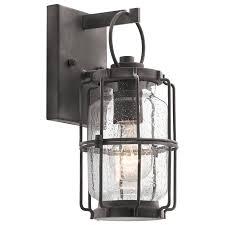 kichler outdoor lighting lowes shop kichler montview 11 25 in h weathered zinc medium base e 26