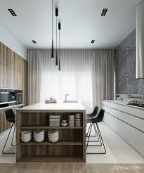 contemporary kitchen island lighting 4 sleek interiors where wood takes center stage kitchen island