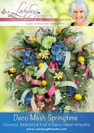 springtime wreaths deco mesh springtime ladybug wreaths by nancy alexander
