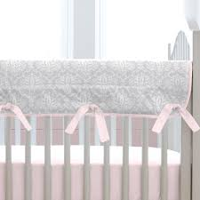 Pink And Brown Damask Crib Bedding Pink And Gray Damask Crib Rail Cover Carousel Designs