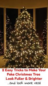 2 easy tricks to make your tree look fuller