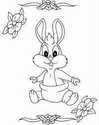 cute baby bugs bunny coloring pages looney tunes cartoon