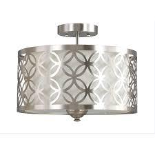 crystal semi flush mount lighting flush mount chandelier home depot ceiling led crystal sourceg light