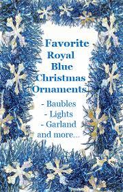 royal blue ornaments glowing holidays