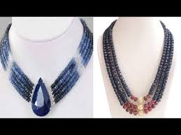 sapphire bead necklace images Latest blue sapphire beads necklace sj 39 s world jpg