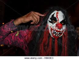 a scary clown costume for halloween stock photo royalty free