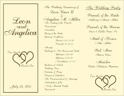 program template for wedding template catholic mass program template