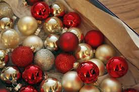 gold silver and glitter ornaments and baubles pictures