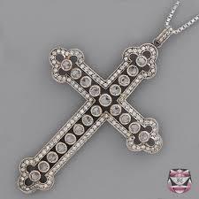 vintage cross necklace images Antique diamond jewelry antique diamond necklaces antique rose jpg