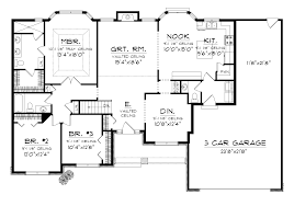 size of a 3 car garage ranch house plans with 3 car tandem garage home desain 2018