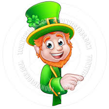 leprechaun st patrick u0027s day cartoon mascot pointing by geoimages