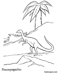 printable dinosaur coloring pages dinosaur procompsognathus