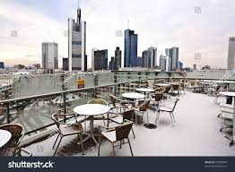 skyline frankfurt early morning covered fresh stock photo 67409800