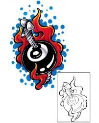 eight ball tattoos and tattoo designs