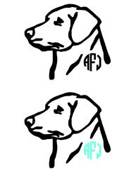 lab monogram vinyl decal labrador monogram decal dog labrador