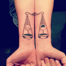 of libra tattoos the scales of justice