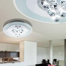 luminaire plafond chambre éclairage plafonnier boules cristaux verre satiné luminaire plafond