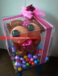 teddy in a balloon gift one image party balloon balloon gift box