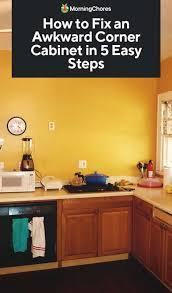how to organize corner kitchen cabinets how to fix an awkward corner cabinet in 5 easy steps