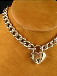 lock choker necklace images Chain choker with heart padlock meylah jpg