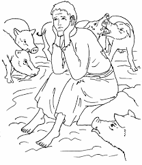 prodigal son coloring sheets parable of prodigal son the lost