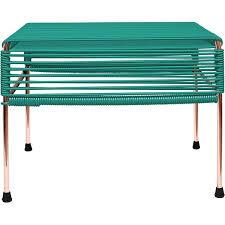Turquoise Side Table Atom Vinyl Cord Ottoman Or Side Table Copper Frame U2013 Etriggerz Com