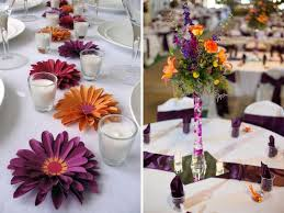 Purple Wedding Decorations Surprising Purple And Orange Wedding Decorations 96 On Wedding