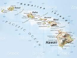 map of hawaii island map of hawaiian islands stock photo 182700941 istock