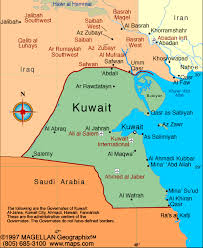kuwait on a map kuwait atlas maps and resources infoplease com middle