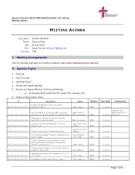 church balance sheet sample and agenda meeting template free