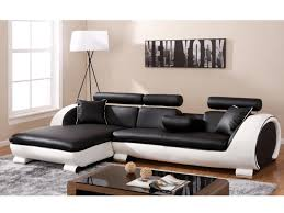 canapé d angle commandeur canapé angle gauche noir structure blanche commandeur