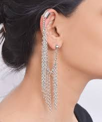 ear cuffs india got my eye on you ear cuff silver