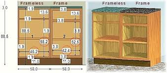 What Are Frameless Kitchen Cabinets Custom Cabinetry Review Frameless Vs Frame Cabinets Construction