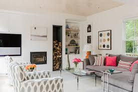 decorating transitional family room plus built in bookcase and