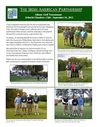 albany golf tournament 2012 newsletter by the irish american