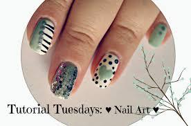 tt 1 mint black white and silver nail art tutorial youtube