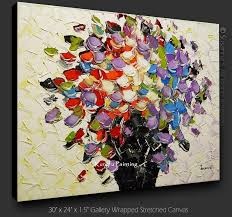 5 piece canvas wall art hand painted palette knife oil 2018 100 hand paint modern canvas art palette knife textured oil