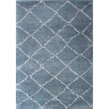 tapis chambre enfant tapis chambre de bébé poils longs nomad bleu