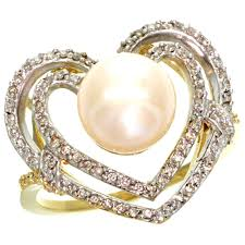 engagement rings neil lane jewelry stunning pearl engagement