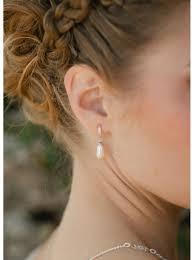boucle d oreille mariage boucles d oreilles mariée avec perles et dormeuses